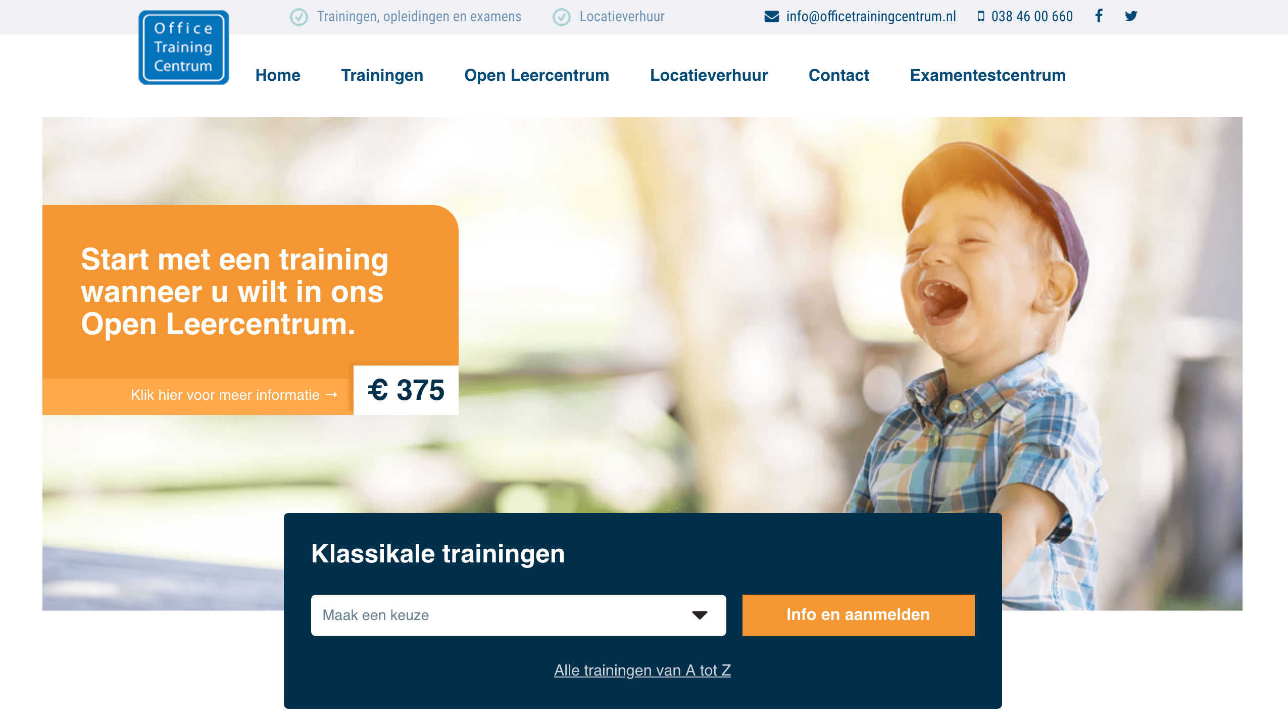 Office Training Centrum altijd online door Dlogic